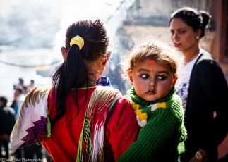 Young girl at Pashupati