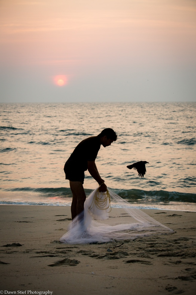 marari beach fisherman