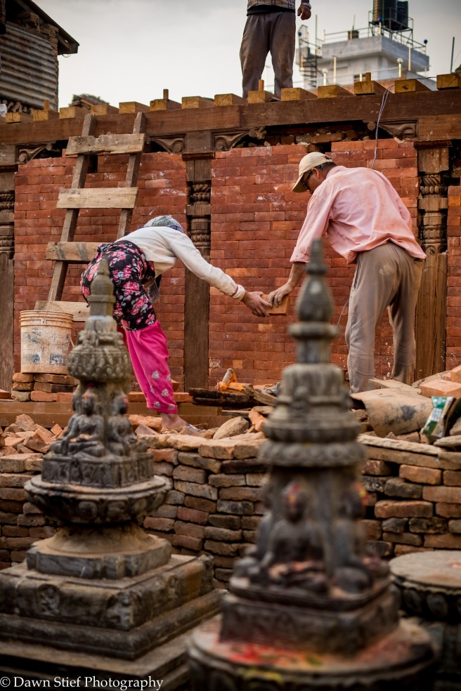 Reconstructing the Aadinath Temple from the base with bricks made in Nepal